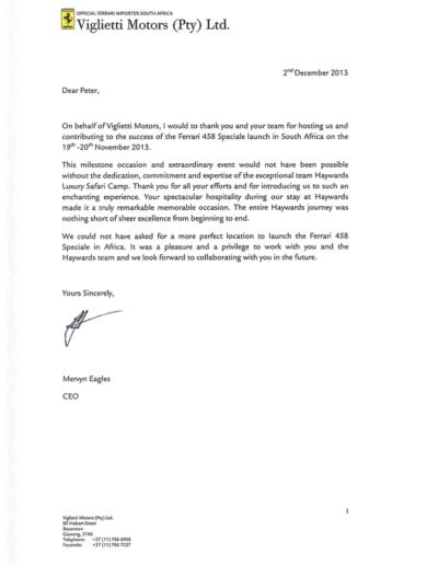 Ferrari-Thank-you-letter-Haywards1