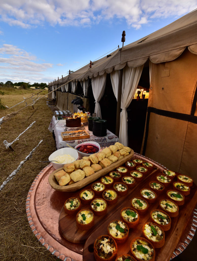 high tea on safari in the south african bush with Hayward Safaris